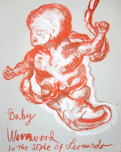 Baby Wormwood in the style of Leonardo