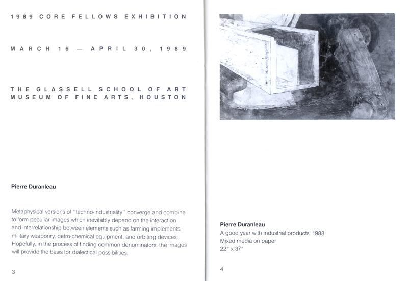 Exposition - Invitation - Exhibition 1989
