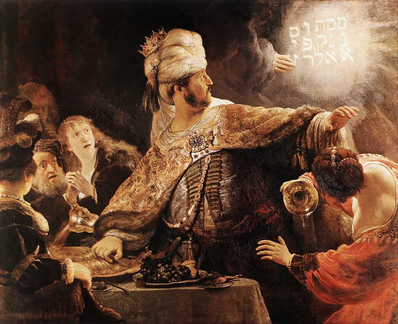 Rembrandt: 'The Feast of Belshazzar'